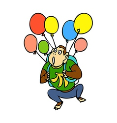 Balloons with monkey vector image
