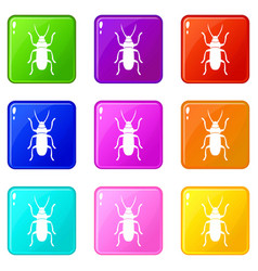 Beetle bug set 9 vector
