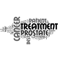 Best prostate cancer treatment text word cloud vector