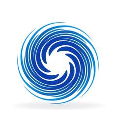 blue swirly wave vector image