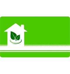 Business card with house and leaf vector