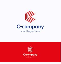 c company logo vector image