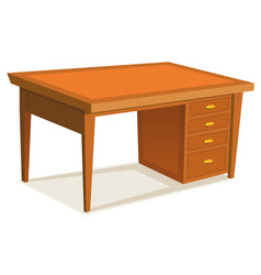 cartoon office desk vector image