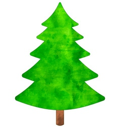 Christmas watercolor tree vector