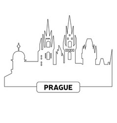 cityscape of prague vector image