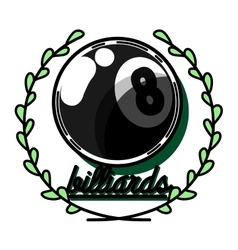 Color vintage billiard emblems vector