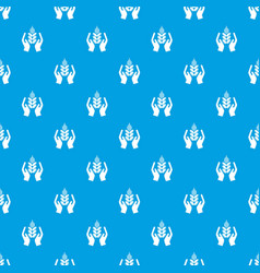crop protection pattern seamless blue vector image