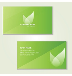 Design green visited card vector