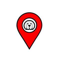 dog location icon logo vector image