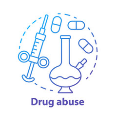 Drug abuse concept icon narcotic opioid addiction vector
