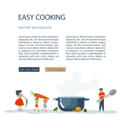 easy cooking landing page website template vector image