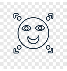 facial recognition concept linear icon isolated vector image