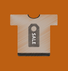 Flat shading style icon sale t-shirt vector