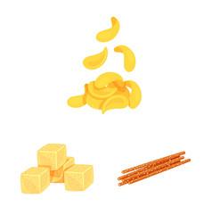 Food and crunchy symbol vector