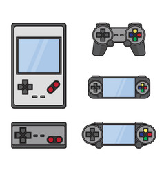 gamepad set isolated on white vector image