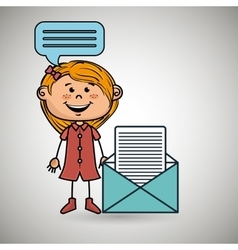 Girl female message chat vector