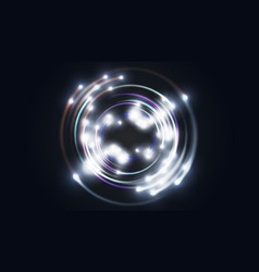 glittering star dust circle of lights stars on vector image