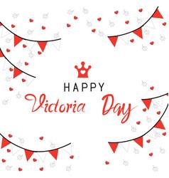 Happy victoria day vector