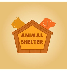 Icon logo for an animal shelter Dog and a cat in a vector