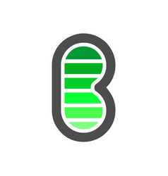 initial b letter electric flash power battery vector image