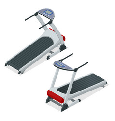 isometric treadmill device for walking or running vector image