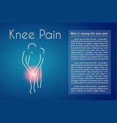 knee pain blue background vector image