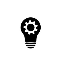lamp bulb with gear icon woking idea symbol vector image