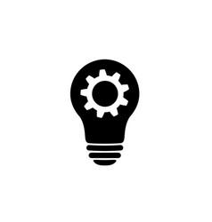 Lamp bulb with gear icon woking idea symbol vector