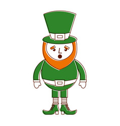 Leprechaun surprise cartoon st patricks day vector