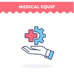medical equipment icon flat design ui vector image