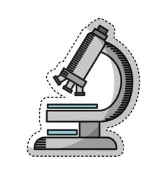 microscope laboratory isolated icon vector image