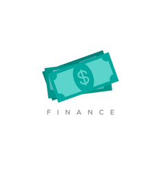 minimalist finance concept vector image