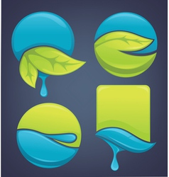 nature stickers and frames vector image