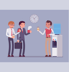 office male cooler chat vector image