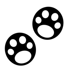 panda paw prints icon vector image
