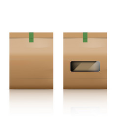 paper bag packaging with reflect on white vector image