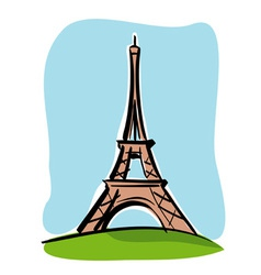 Paris Tour Eiffel vector image