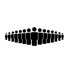 people team icon vector image