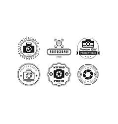 Photo studio logo set photography premium club vector