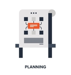 planning flat concept vector image