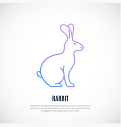 Rabbit silhouette isolated on white background vector