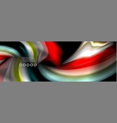 Rainbow color fluid wave lines flow poster wave vector