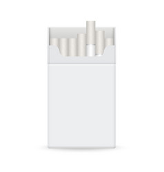 Realistic blank cigarette pack template vector