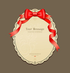 Red ribbons and Circle paper vector image vector image