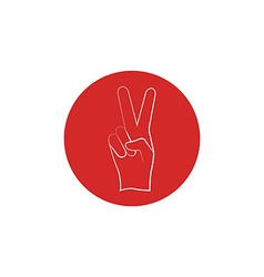 Red sign of victory of the fingers the political vector image