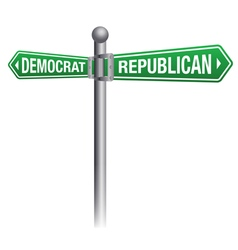 Republican Versus Democrat Theme vector image