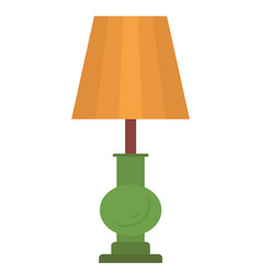 Retro floor lamp with brown lampshade and stand vector