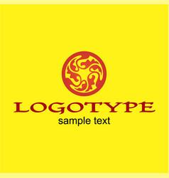 Round logo design vector
