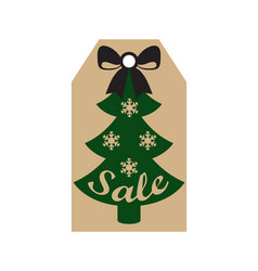 Sale new year label sample on vector