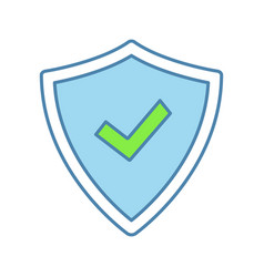 security approved color icon vector image